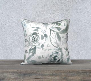 Aperçu de Evelyn Gray Floral Pillow