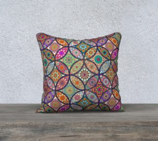 "Vibrant Mandalas 18"" x 18"" Decorative Pillow Case preview"