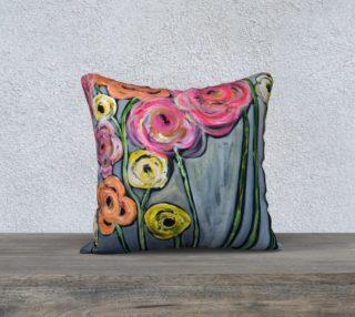 Aperçu de 18x18 bloom where you are planted pillow case