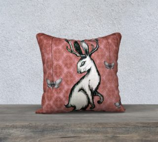 Jakalope Sitting 18x18 Pillow Full preview