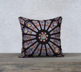 """Rose South Window, Notre Dame Paris 18"""" x 18"""" Decorative Pillow Case preview"""