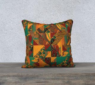 "Abstract Safari Print 18"" x 18"" Decorative Pillow Case preview"