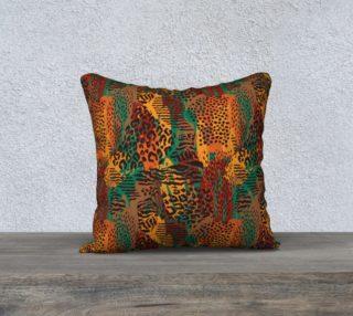 "Safari Animal Print Mashup 18"" x 18"" Decorative Pillow Case preview"