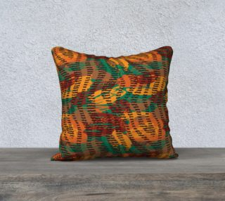 "Abstract Animal Stripes 18"" x 18"" Decorative Pillow Case preview"