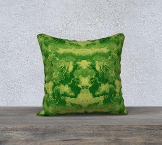 Aperçu de Green mirror watercolor abstraction