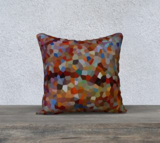 Red Brown Line Mosaic Pillow Case Square 18 preview