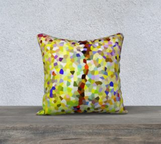 Yellow Line Mosaic Pillow Case Square 18 preview