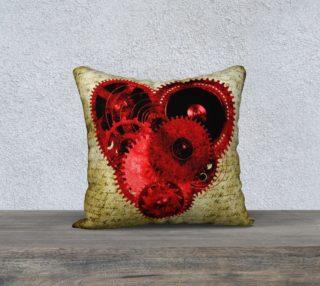 "Vintage Steampunk Heart 18"" Pillow preview"