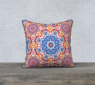 "Blue and Orange Kaleidoscope 18"" x 18"" Decorative Pillow Case preview"