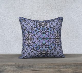 """Purple and Blue Kaleidoscope 18"""" x 18"""" Decorative Pillow Case preview"""