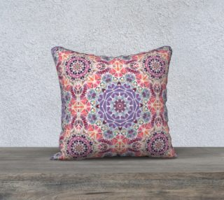 """Purple and Pink Kaleidoscope 18"""" X 18"""" Decorative Pillow Case preview"""