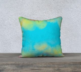 Aqua Yellow and Pink Watercolor preview