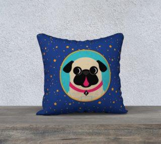 Aperçu de Pug In Turquoise Circle in Stars