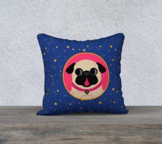 Aperçu de Pug In Pink Circle On Stars