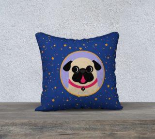 Aperçu de Pug In Lavender Circle on Stars