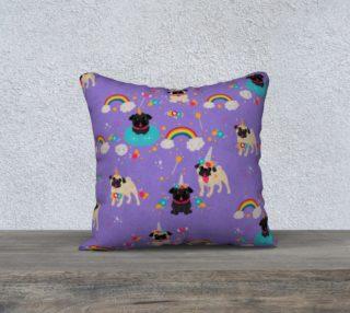 Aperçu de Fawn & Black Pug Unicorns