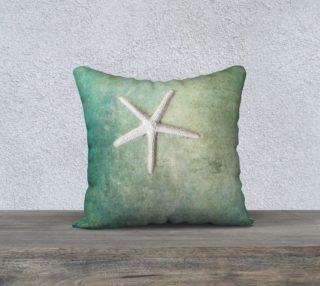 "single starfish 18"" white back aperçu"