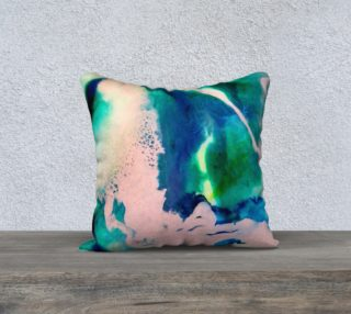 Pink Blue Abstract Resin - Pillow 18 preview