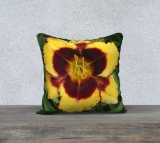 sun panda daylily pillow preview