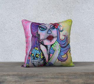 Maria De Los Muertos Pillow Case preview