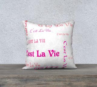 Fuchsia C'est la Vie Pillow Case Style1 preview