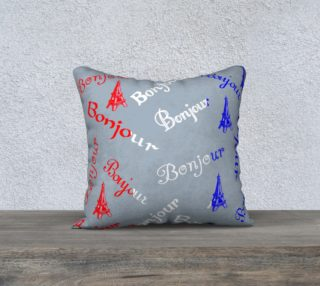 French Flag Bonjour Pillow Case Style1 preview