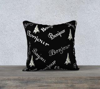 White Bonjour Pillow Case Style1 preview