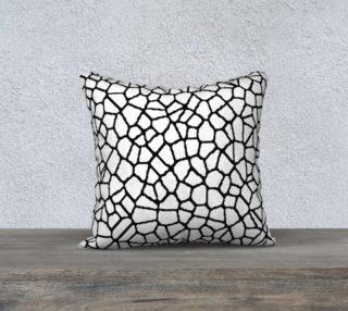 staklo (white/black) throw pillow - 18x18 preview