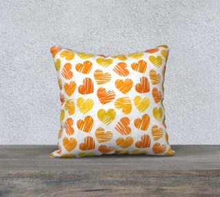 Lovely orange hearts preview