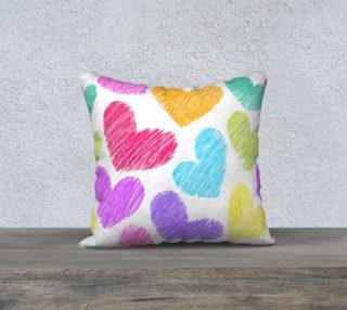 Aperçu de Colorful sketchy hearts