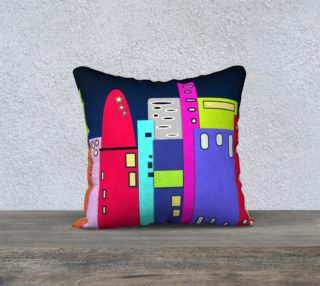 "Space City Pillow 18"" x 18"" preview"