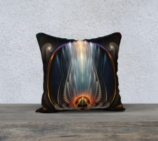 Imperial View Pillow Blue preview