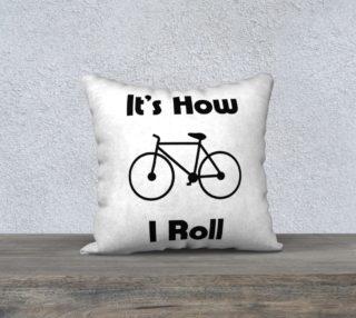 BikeRollWhitePillow preview