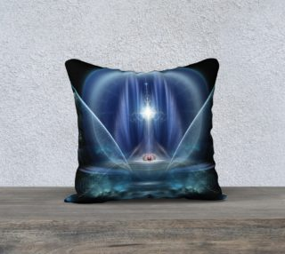 Seat Of The Gods Pillow Blue preview
