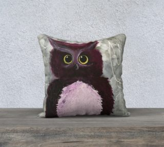 Aperçu de Mulberry Owl Pillow
