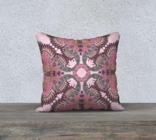 Pink flamingo butterflies cushion preview