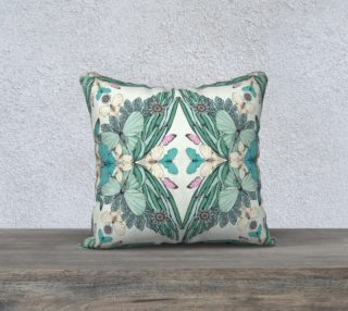 Summer garden square cushion preview