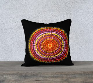 Aperçu de Dotty Mandala Pillow