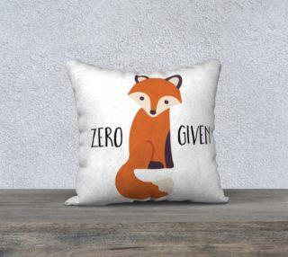 Aperçu de Zero Fox Given-Cheeky Fox Pillow