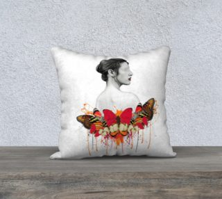 Lady Butterfly Abstract Pillow preview