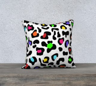 """Lovely Leopard Pillow 18""""x18"""" preview"""
