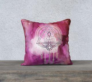Aperçu de Fuscia Magenta Boho Geometry Pillow