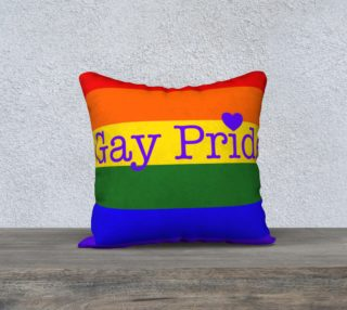 "Gay Pride Love Pillow 18"" x 18"" preview"