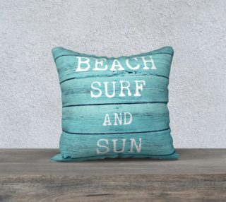 """beach surf and sun 18"""" white back preview"""