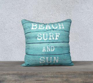 "Aperçu de beach surf and sun 18"" white back"