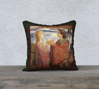 "Aperçu de Tristan and Isolde - 18"" x 18"" Pillow"