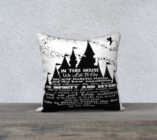 In this House Custom Color Pillow Cover preview