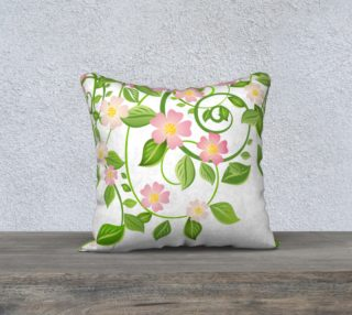 """Serene Floral Forest White Pillow Cover 18""""X18' preview"""