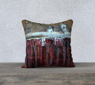 "Aperçu de Gold and Red Pillow - 18"""