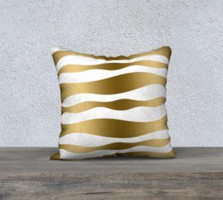 Aperçu de Gold & White Modern Zebra Stripes Pattern